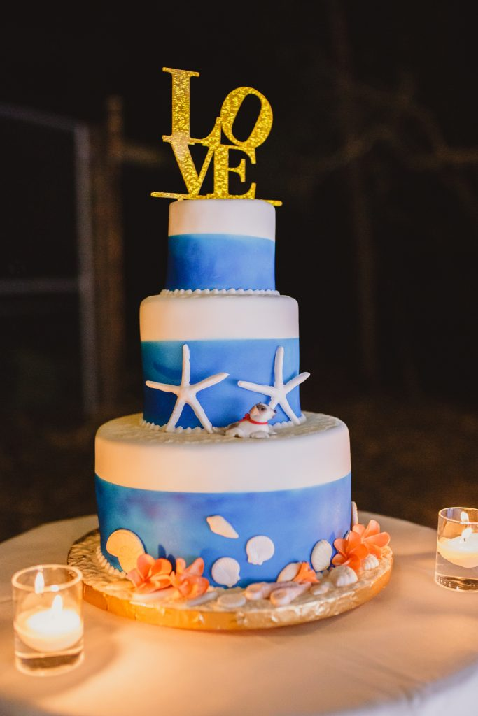 Gluten free Fraser Island wedding cake by Bonnies Cakes and Kandies