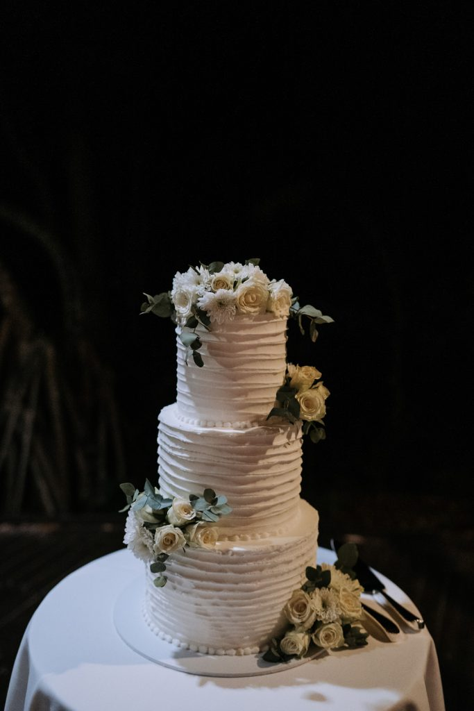 Gluten and dairy free wedding cake at Fraser Island